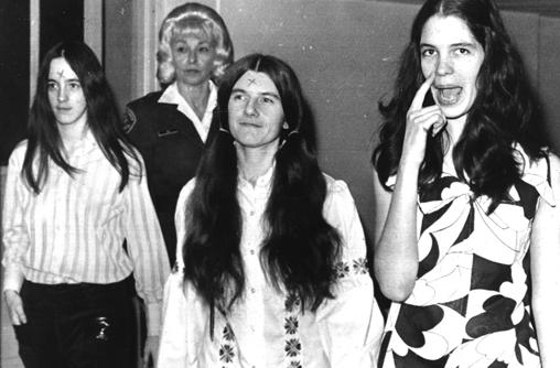 Patricia Krenwinkel, Susan Atkins, and Leslie Von Houten