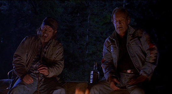 Jeffrey Combs and Lance Henriksen as hillbilly hunters in Abominable