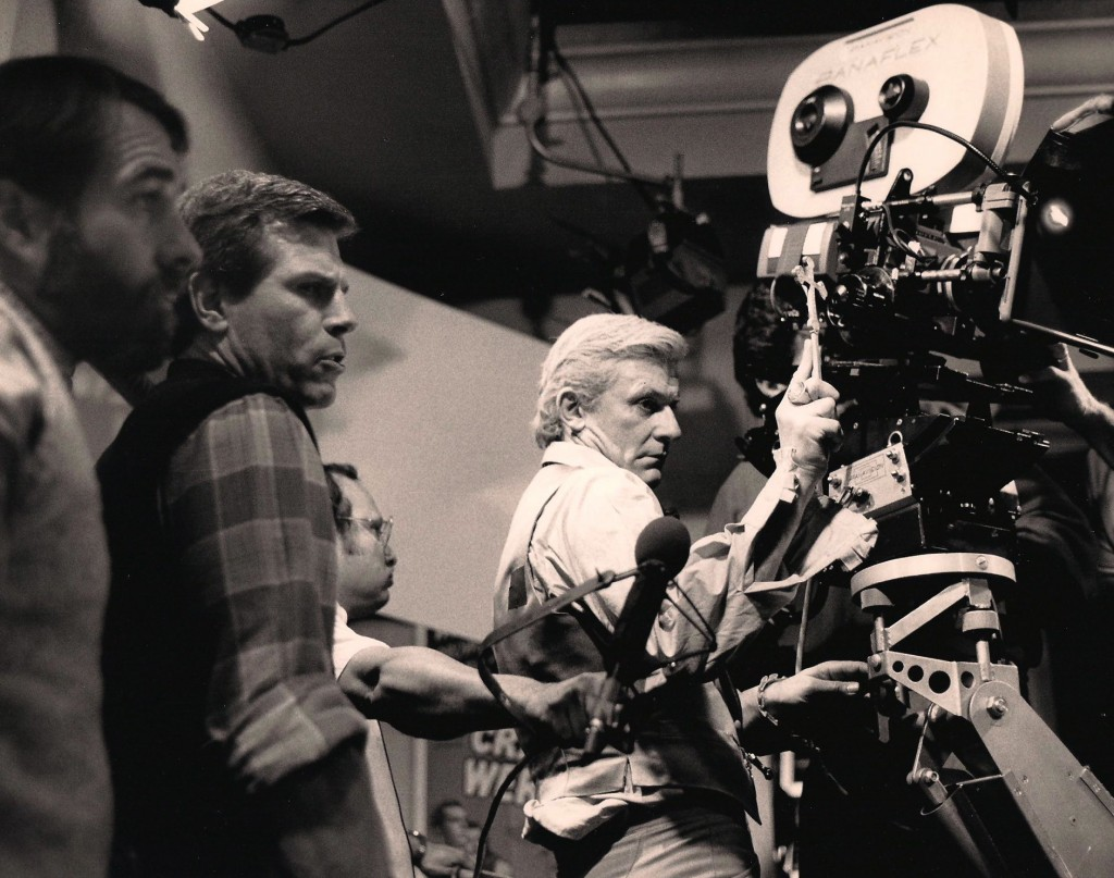 Tom Holland directing Roddy McDowell in Fright Night