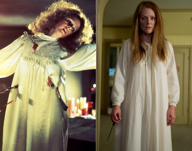 Piper Laurie and Julianne Moore as Margaret White