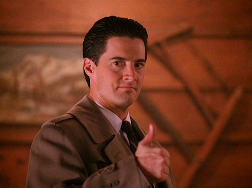 """I'm Agent Dale Cooper, and I approve this message!"""