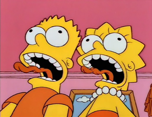 bart-lisa-simpson-screaming