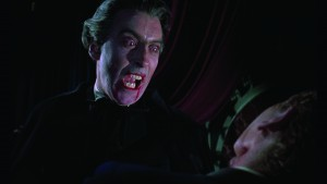 Facing off with Peter Cushing in Horror of Dracula (1958)