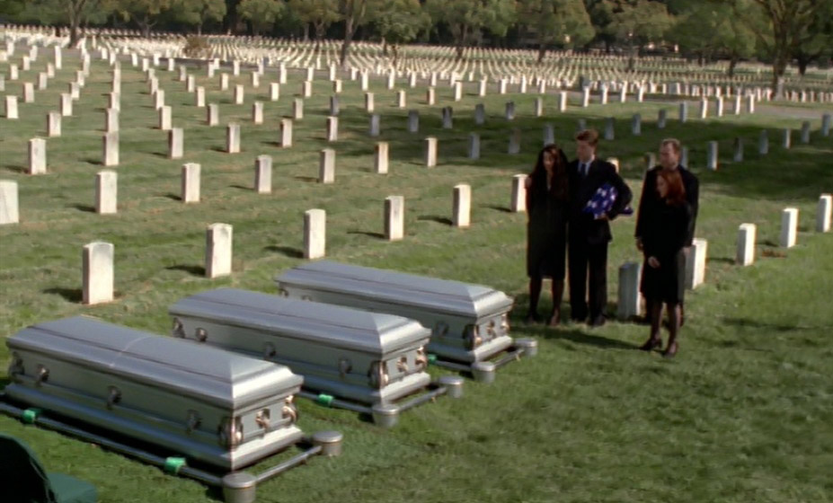 Funeral at Arlington National Cemetery for The Lone Gunmen