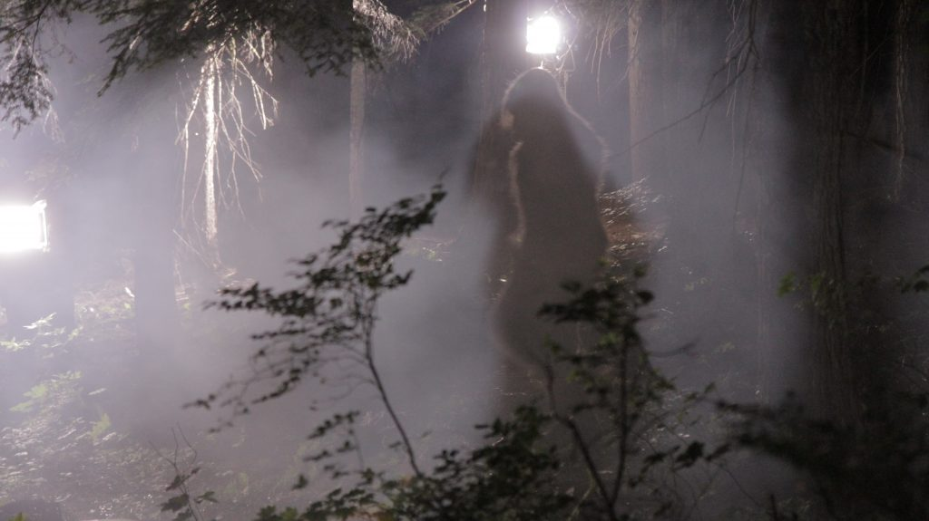 "Behind the Scenes still of ""Sasquatch"" in Valley of the Sasquatch."