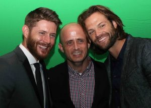 Jenson Ackles, Eric Kripke and Jared Padalecki at the 2016 Saturn Awards- Photo by Vicki Woods