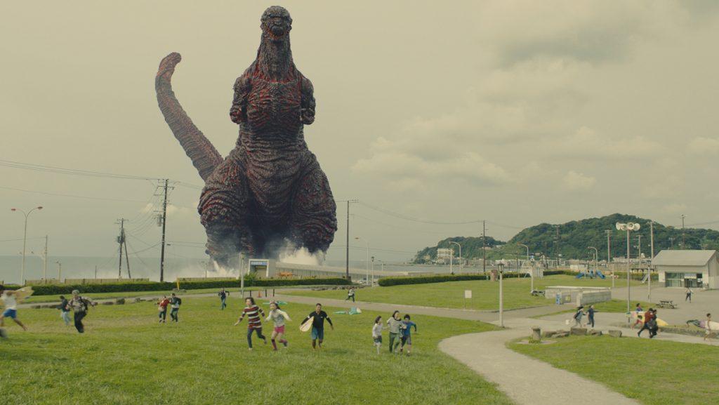 Godzilla comes ashore near Kamakura